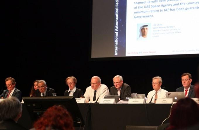 아랍에미리트 두바이는 세계 최대 우주공학산업 대회인 '국제우주대회(IAC)' 2020년 개최지 입찰에 성공했다.MBR우주센터