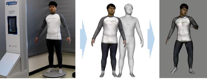 고속 실감 3D 아바타 생성 시스템을 통해 만들어진 아바타의 모습. 실감교류인체감응솔루션연구단 제공