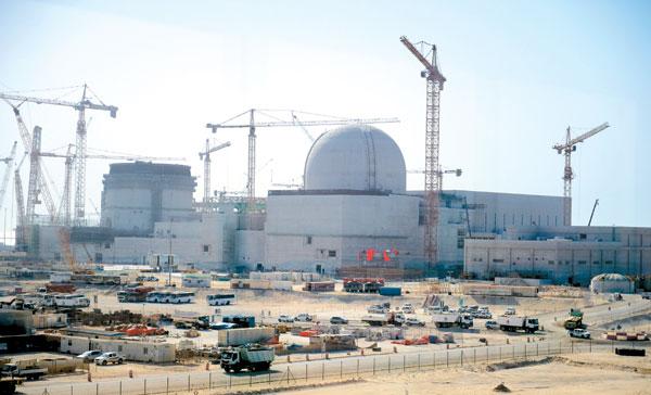 아랍에미리트(UAE) 바라카에서 건설 중인 한국형 원자로 APR1400의 전경이다. 한국전력 제공