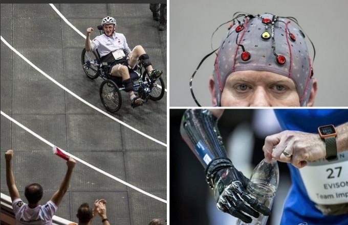 2016년 스위스에서 열린 ′사이배슬론′ 대회에서 웨어러블 로봇을 착용한 선수들이 실력을 겨루고 있다. EPA/연합뉴스