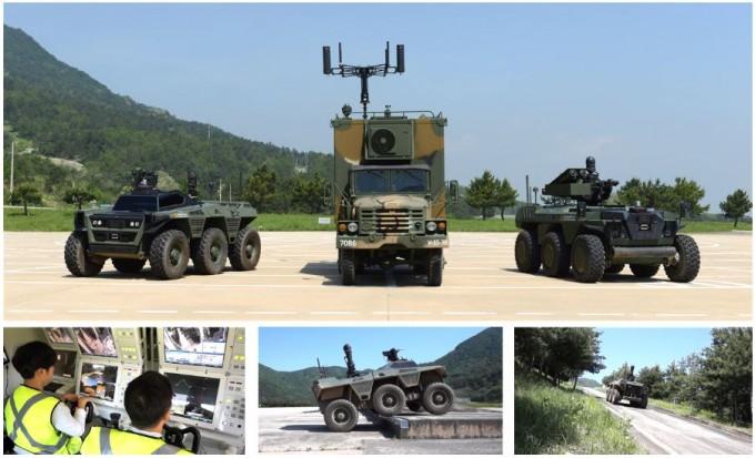 군은 지상 무인체계를 구축하기 위해 다양한 로봇들을 개발하고 있다. 국방과학연구소 홈페이지 캡처