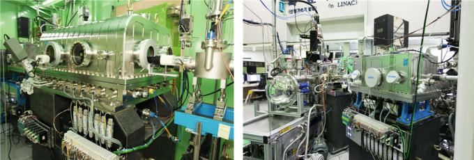 대기압 광전자 분광학 빔라인(AP-XPS)의 분광장치(왼쪽)와 분석챔버(오른쪽). 한국기초과학지원연구원 제공