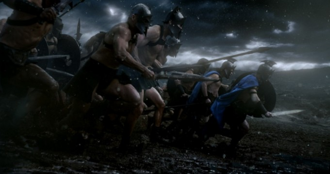 그리스-페르시아 전쟁 중 살라미스 해전에서 열린 테르모필레 전투의 모습을 그린  영화 ′300′ 캡쳐. 네이버영화 제공