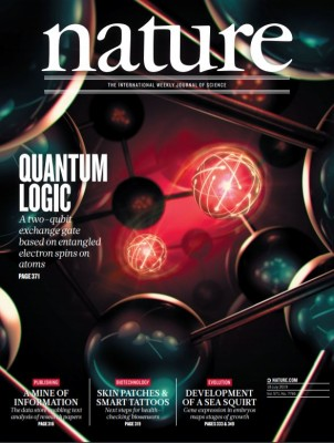 [표지로 읽는 과학] 속도와 정확도 한층 개선한 실리콘 양자컴퓨터