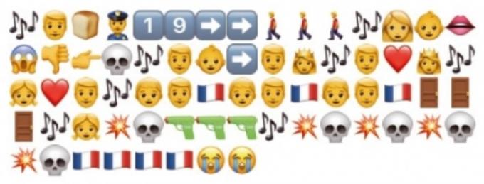 트위터 사용자들은 프랑스 작가 빅토르 위고의 작품 ′레 미제라블′을 이모지로 ′번역′했다. 아무렇게나 그림을 배열한 듯 보이지만 찬찬히 살펴보면 줄거리가 이해된다. 어린이과학동아 제공