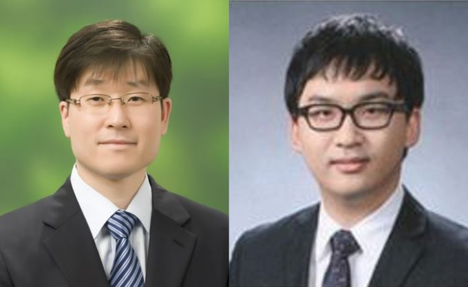 광주과학기술원(GIST)은 김봉중(왼쪽) 신소재공학부 교수 연구팀이 액상에서 생성되는 뾰족한 금 나노입자의 성장 메커니즘, 운동학적 특성, 형태학적 변화를 밝혀냈다고 22일 밝혔다. 정완길(오른쪽) GIST 신소재공학부 박사과정생도 제1저자로 연구에 참여했다. GIST 제공