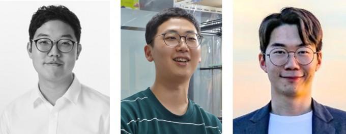 (왼쪽부터) 박재필 나라스페이스테크놀로지 대표, 김동석 콩돌 스페이스 로보틱스 공동대표, 이성문 우주로테크 대표