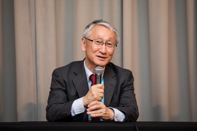 가와구치 준이치로 일본 우주항공연구개발기구(JAXA) 하야부사1 프로젝트 책임자가 18일 서울 여의도 콘래드호텔에서 열린 코리아스페이스포럼 기자간담회에서 발언하고 있다. 코리아스페이스포럼/AZA