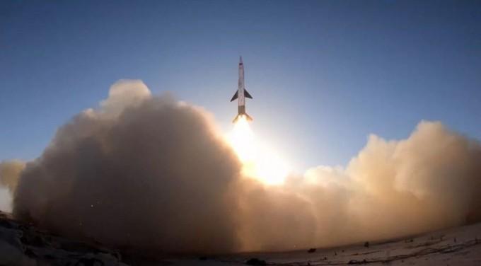 스페이스트랜스포테이션이 발사한 재활용 소형 로켓. 스페이스트랜스포테이션 제공.