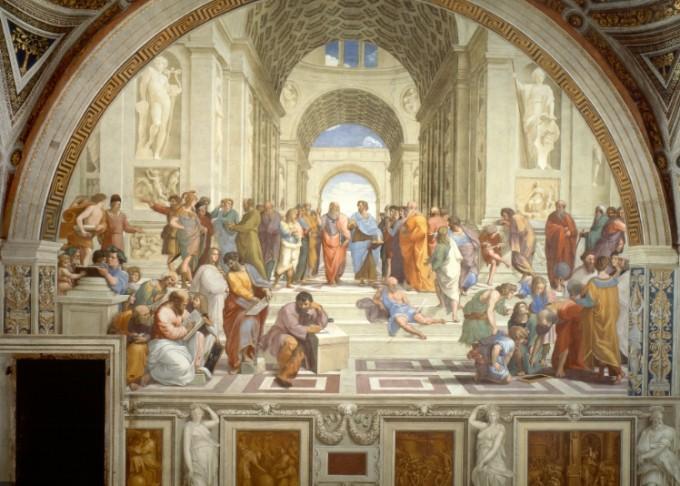 라파엘의 프레스코 벽화 중 아테네학당. 위키미디어 제공