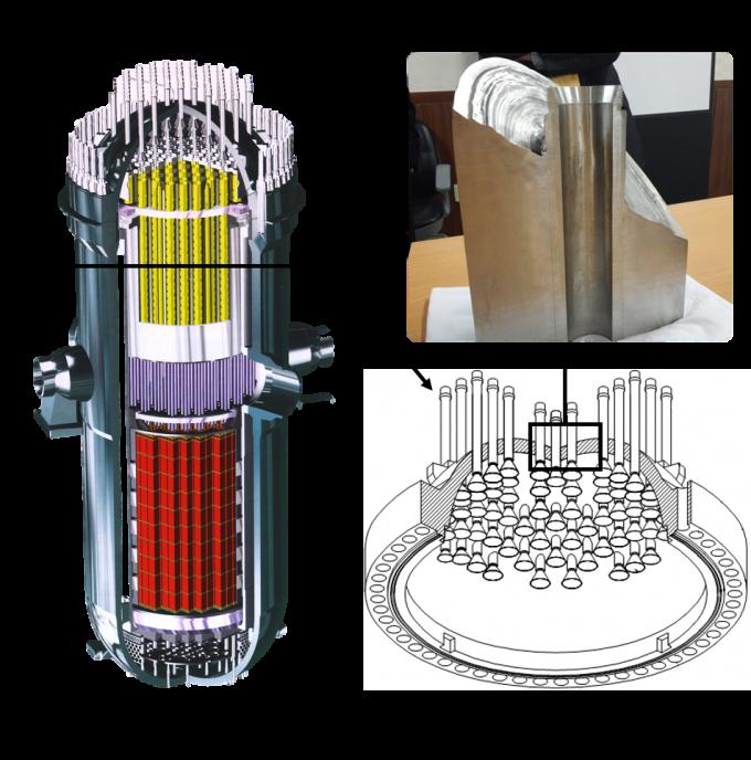 인코넬690은 한국형 원전의 출력제어봉 관통관 노즐에 쓰인다. 한국원자력연구원 제공