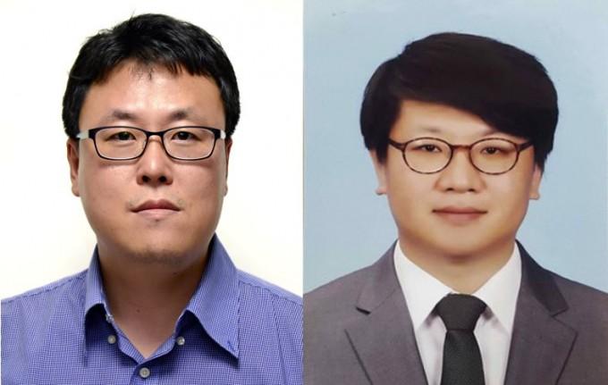 유성종(왼쪽) 한국과학기술연구원(KIST) 수소∙연료전지연구단 책임연구원과 정남기(오른쪽) 충남대 에너지과학기술대학원 교수 공동연구팀이 알칼라인 연료전지에 쓰일 새로운 탄소계 촉매를 개발했다. KIST 제공
