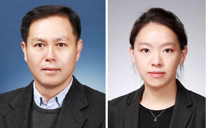 30년간 학설을 뒤엎고 호메오 단백질이 세포간 이동할 수 있음을 입증한 김진우 KAIST 교수(왼쪽)와 이은정 박사후연구원(오른쪽).한국연구재단 제공