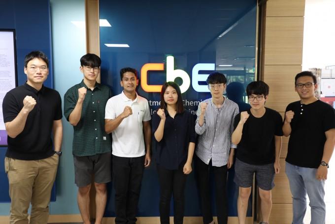 케미카 한국 지역 예선 대회 우승을 차지한 KAIST 카이탈리스트 팀의 모습. KAIST 제공