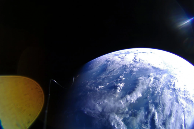 라이트세일 2호가 7월 7일 지구를 찍은 사진. 행성협회 제공