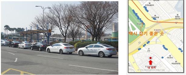 유동인구 데이터를 활용해 울산지역 택시 승객을 만나기 좋은 곳들을 발굴, 택시 배차계획에 활용하겠다는 덕신운수의 데이터 바우처 지원 사례. 과기정통부 제공.