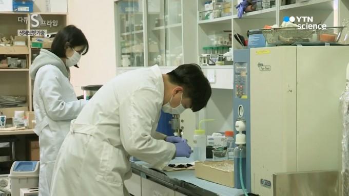 박호석 성균관대 교수 연구팀이 실험실에서 연구에 집중하고 있다. 과기정통부 제공.
