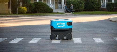 아마존, 美 캘리포니아서 자유주행 로봇으로 소포배송 개시