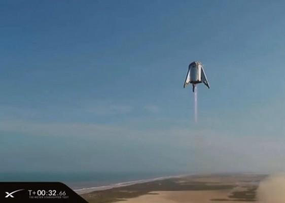 스페이스X 화성 우주선 '스타십' 시제품 시험비행 성공