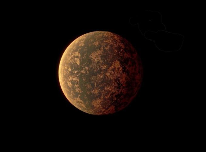 지구로부터 49광년 떨어진 슈퍼지구 행성 ′LHS 3844b′는 대기가 거의 없어 생명체가 살 가능성이 희박한 것으로 분석됐다. 지난해 발견된 LHS 3844b의 상상도다. 미국항공우주국(NASA) 제공
