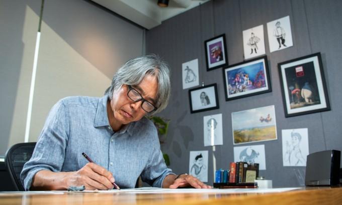 영화 ′레드슈즈′는 김상진 감독이 국내 복귀 후 제작에 참여한 첫 영화다. 김 감독은 주인공 ′스노우 화이트′ 를 비롯한 영화 속 캐릭터들의 디자인을 맡았다.남윤중/AZA스튜디오 제공