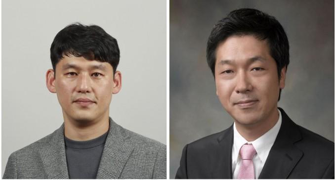 울산과학기술원(UNIST)은 송현곤(왼쪽)∙곽상규(오른쪽) 에너지및화학공학부 교수 공동연구팀이 생체반응을 모방한 촉매를 개발해 리튬공기전기의 성능을 높이고 수명을 늘리는데 성공했다고 8일 밝혔다. UNIST 제공