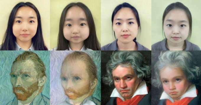 카메라에 미친 얼굴을 아기처럼 바꿔주는 ′아기필터′를 사용한 모습. 수학동아