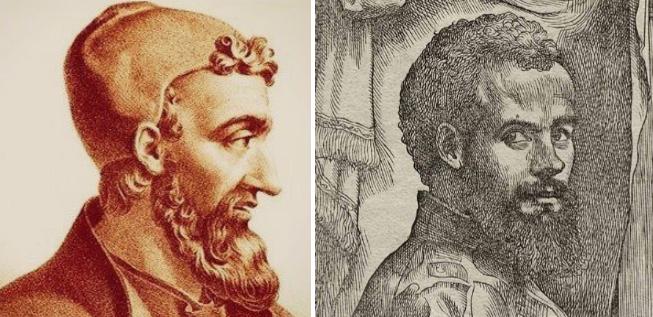 고대 그리스 의학자 클라우디오스 갈레노스(129~미상)와 벨기에 의사 안드레아스 베살리우스(1514~1564). 위키미디어