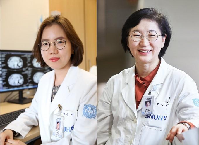 분당서울대병원 소화기내과 장은선 교수(왼쪽)와 정숙향 교수(오른쪽) 연구팀은 간암 선별검사를 하면 조기 진단과 조기 치료가 가능해져 장기적으로 생존율을 높일 수 있다는 사실을 입증했다고 12일 밝혔다. 분당서울대병원 제공