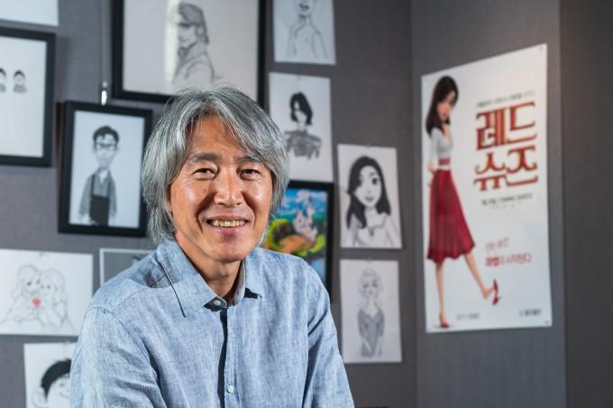 한국인 최초 월트디즈니애니메이션 스튜디오 수석 애니매이터로 일했던 김상진 감독을 만났다. 남윤중/AZA 제공