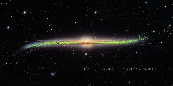 도로타 스코론 폴란드 바르샤바대 천문관측소 연구팀은 우리 은하의 3차원 구조를 관찰해 우리 은하가 실제로는 휘어져 있음을 확인했다. 바르샤바대 제공