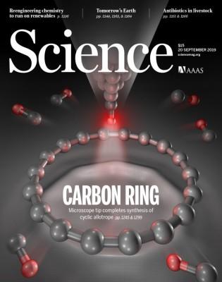 [표지로 읽는 과학] 탄소원자 18개로 만든 분자반지 '사이클로카본'