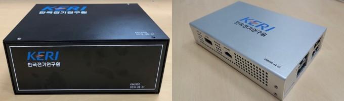 한국전기연구원은 스마트변전소를 구성하는 핵심 기술인 ′디지털 통합 데이터 생성장치′(왼쪽)와 ′고신뢰 네트워크 장치′(오른쪽)를 국산화하는데 성공했다고 30일 밝혔다. 한국전기연구원 제공