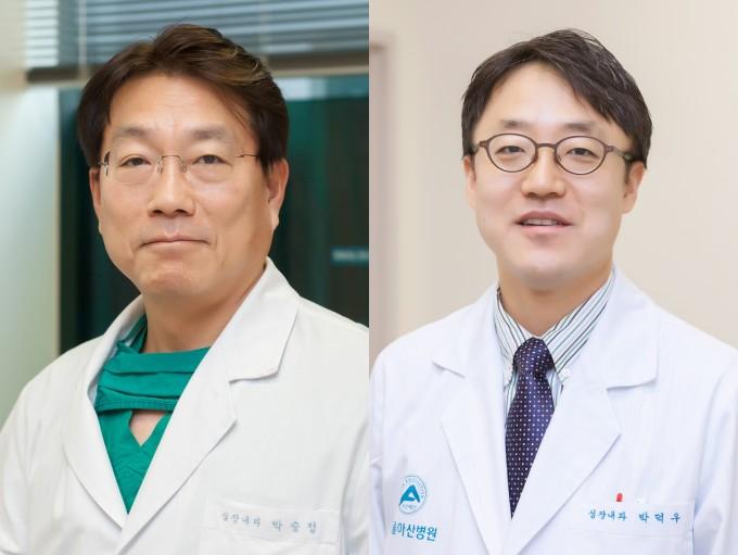 (왼쪽부터) 서울아산병원 심장내과 박승정 석좌교수, 박덕우 교수