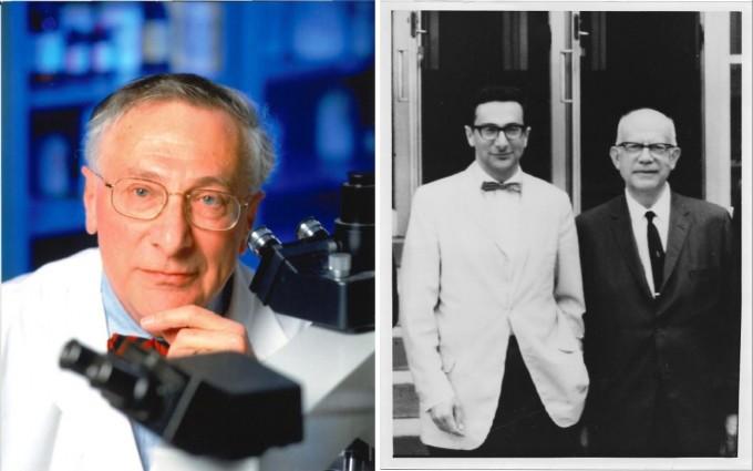 노엘 로즈 미국 존스홉킨스의대 분자미생물학부 교수(첫번째 사진, 두번째 사진 왼쪽)은 어니스트 위트브스키 교수와 함께 자가면역 질환의 존재를 밝혔다. 노엘 로즈 제공