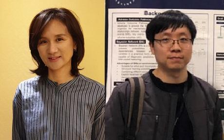 최진희 서울시립대 환경공학부 교수(왼쪽)와 제1저자 정재성 연구원. 최진희 제공