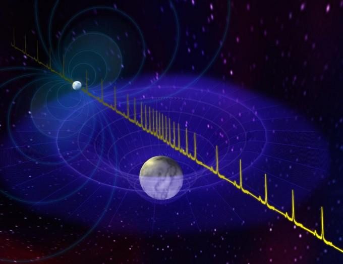 지금까지 발견된 중성자별 중 가장 큰 질량을 가지는 중성자별이 발견됐다. 땡스풀 크로마티 미국 버지니아대 천문학부 박사과정 연구원팀은 중성자별이 내뿜는 전자기파가 중성자별의 쌍성인 백색왜성에 의해 왜곡되는 현상을 관측해 중성자별의 질량을 구해냈다. 미국국립전파천문대 제공