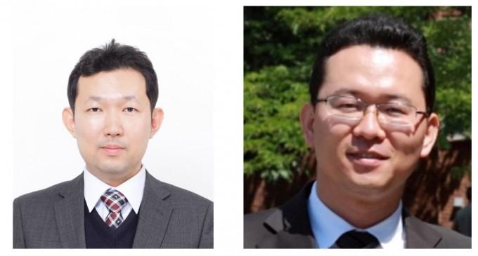 김관표(왼쪽) 기초과학연구원(IBS) 나노의학연구단 연구위원과 김채운(오른쪽) 울산과학기술원(UNIST) 물리학과 교수 연구팀이 고체가 액체로 상전이 할 때 분자 배열이 바뀌는 모습을 실시간으로 관찰하는데 성공했다. IBS 제공