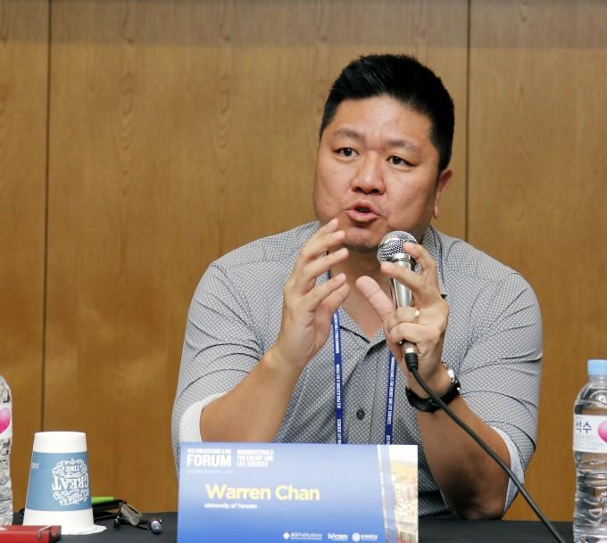 원랜 챈 캐나다 토론토대 교수는 나노입자를 이용한 의학이 발달하면 질환 맞춤형으로 나노입자를 응용할 수 있을 것으로 기대했다. 윤신영 기자