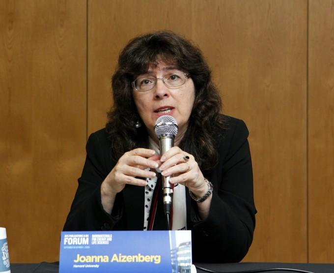조안나 아이젠버그 미국 하버드대 교수는 30일 연세대에서 개최한 기자간담회에서 ″기초과학 성과를 상용화하기 위해 전문 기관의 도움이 필요하다″고 말했다. 윤신영 기자