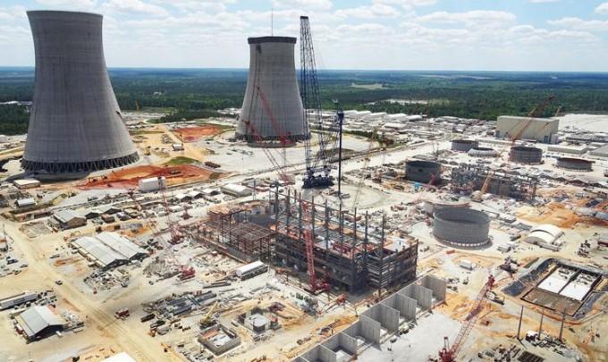 2016년 미국 조지아주에 신규 원전이 지어지던 모습이다. 2017년 자금 문제를 이유로 원전 건설이 중단됐다. 조지아전력 제공