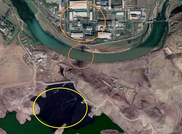 미국 자유아시아방송은 지난달 15일 제이콥 보글 북한 분석가의 주장을 인용해 평산 우라늄 공장의 폐기물이 서해로 유입됐을 가능성을 제기했다. 자유아시아방송 제공