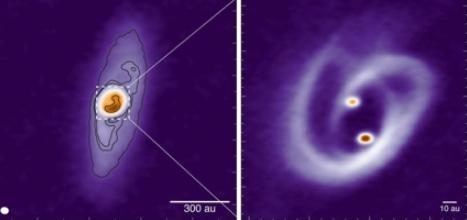 쌍성계 형성 비밀 밝혀준 '프레첼' 모양 가스·먼지 원반