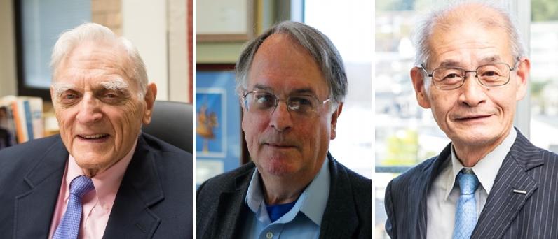 2019 노벨화학상 수상자가 발표됐다. (왼쪽부터) 존 굿이너프, 스탠리 위팅엄, 요시노 아키라
