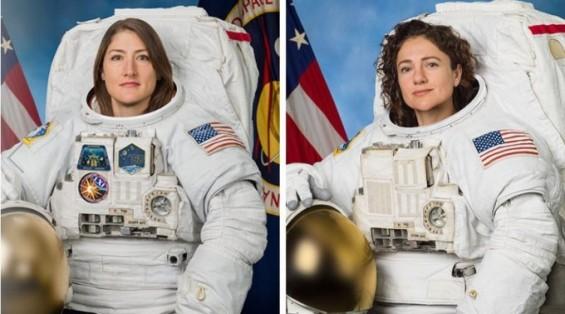 여성 우주인들만의 첫 우주유영, 18~19일 재도전