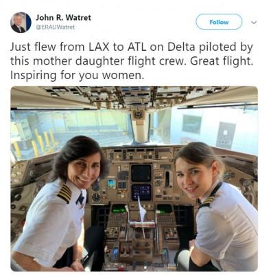 엄마와 딸이 같은 비행기 조종사