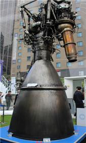 한국항공우주연구원이 ADEX에 전시할 누리호 75톤급 엔진의 모습이다. 한국항공우주연구원 제공