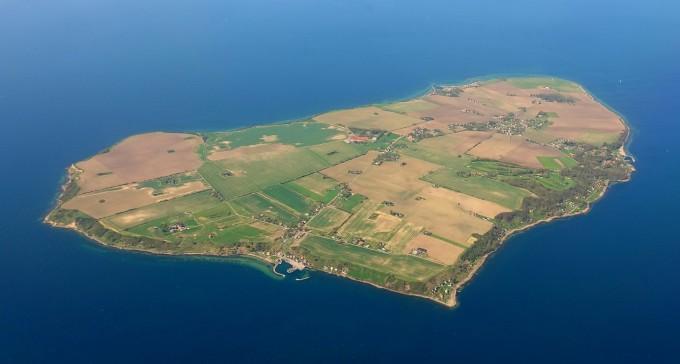 덴마크와 스웨덴 사이 해협에 있는 벤(Ven) 섬. 위키피디아 제공