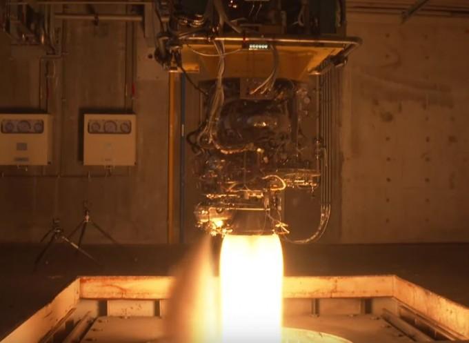 한국형 발사체의 3단용 7t급 액체엔진이 500초 연소시험에 성공했다. 한국항공우주연구원 유튜브 캡처