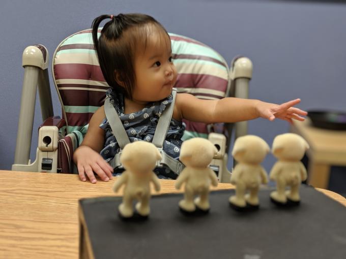 리사 페이겐슨 미국 존스홉킨스대 심리 및 뇌과학부 교수 연구팀은 생후 18개월 미만 어린 아이들도 숫자를 말로 표현 못할 뿐 어느 정도 이해하고 있다는 것을 실험을 통해 밝혔다. 존스홉킨스대 제공